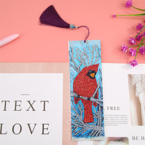 Cardinal Bird - Diamond Painting Bookmark