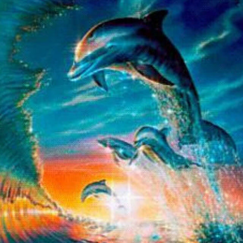 Image of Dolphins in Waves - DIY Diamond Painting