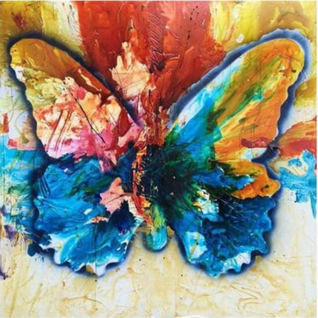 Colorful butterfly - DIY Diamond Painting