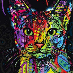 Colourful Cat- DIY Diamond  Painting