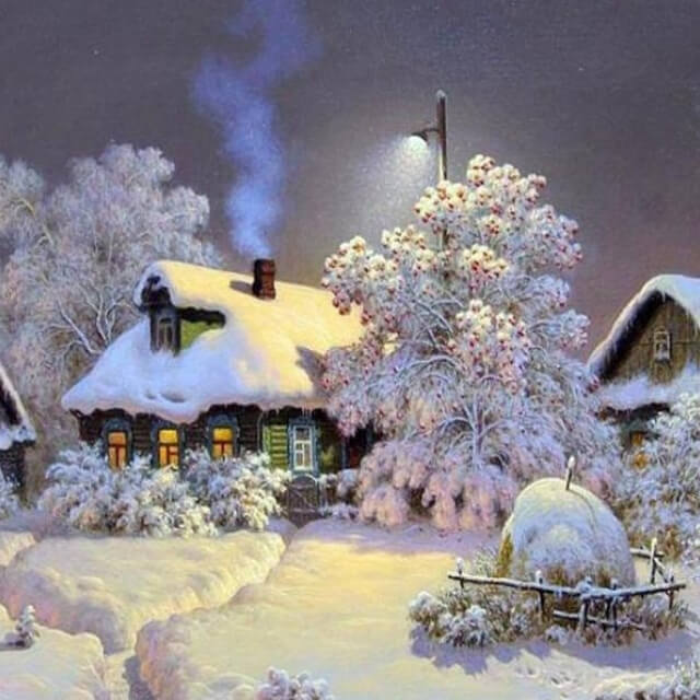 Snow Landscape - DIY Painting By Numbers