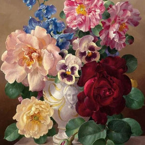 Lovely Flowers -  DIY Painting By Numbers