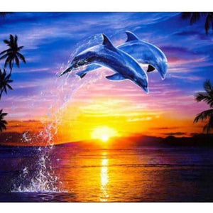 Flying Dolphins - DIY Diamond Painting