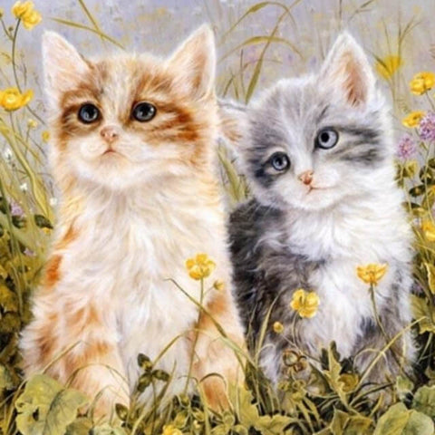 Image of Lovely Cute Cats - DIY Painting By Numbers