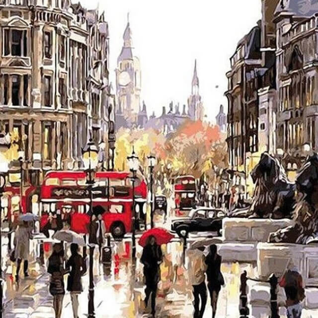 London Streets - DIY Painting By Numbers