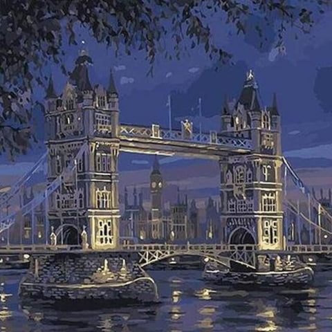 London Bridge at Night - DIY Painting By Numbers