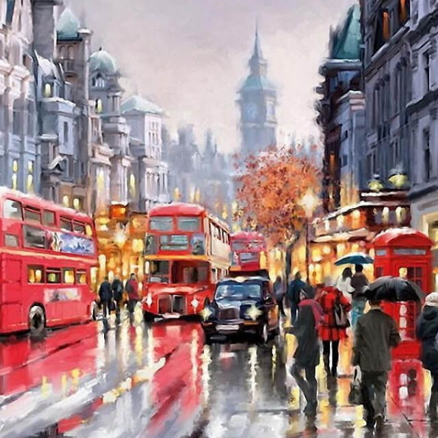 London - DIY Painting By Numbers