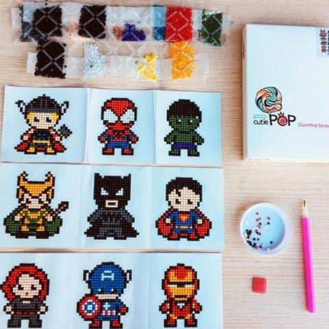 Diamond painting stickers Heroes kit (Watch video in Description below)