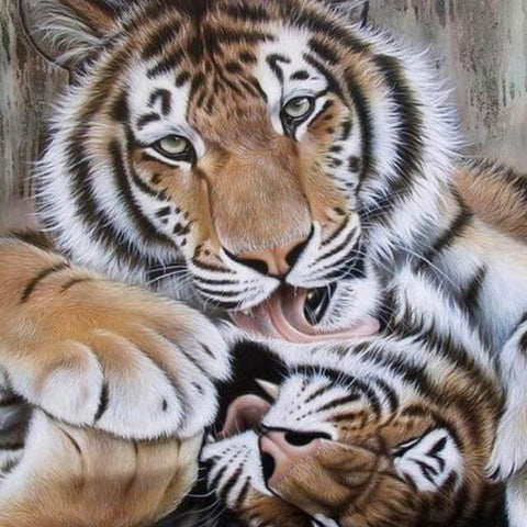 Image of Tigers Mom's Love - DIY Painting By Numbers