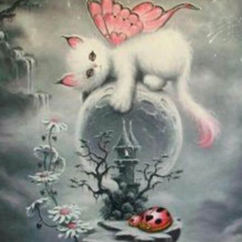 Image of Fairy Cat - DIY Diamond Painting