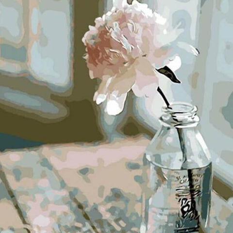 Image of White Flower -  DIY Painting By Numbers
