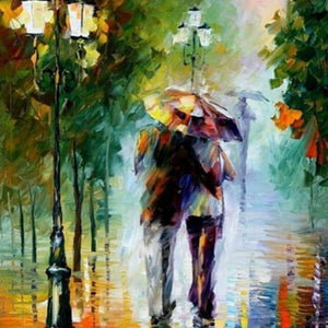 Walking In The Rain - DIY Painting By Numbers
