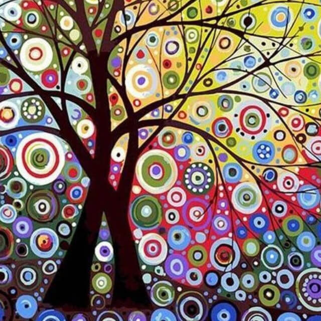 Abstract Tree - DIY Painting By Numbers