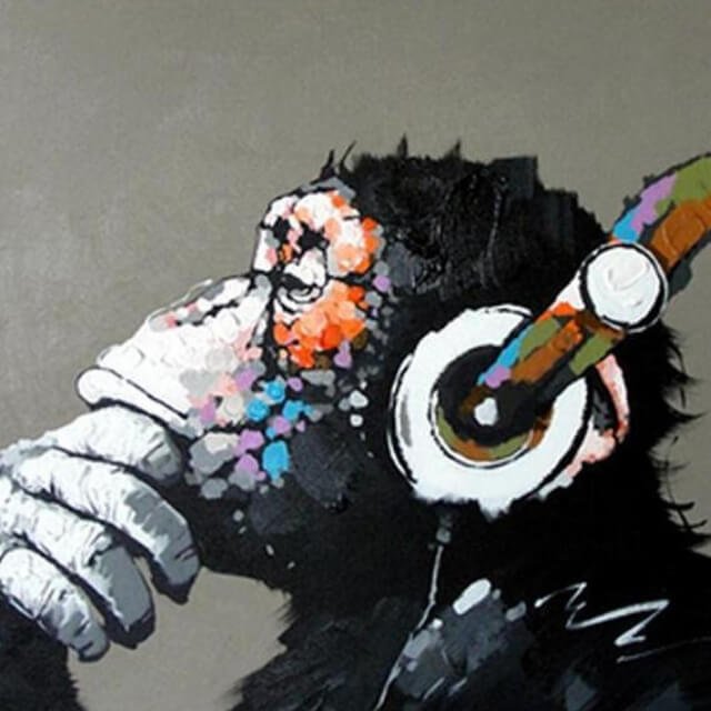 Abstract Monkey - DIY Painting By Numbers