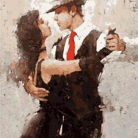 Dancing Salsa Couple -  DIY Painting By Numbers