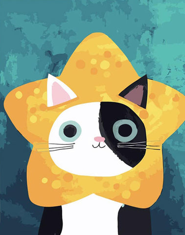 Cat Star - DIY Painting By Numbers