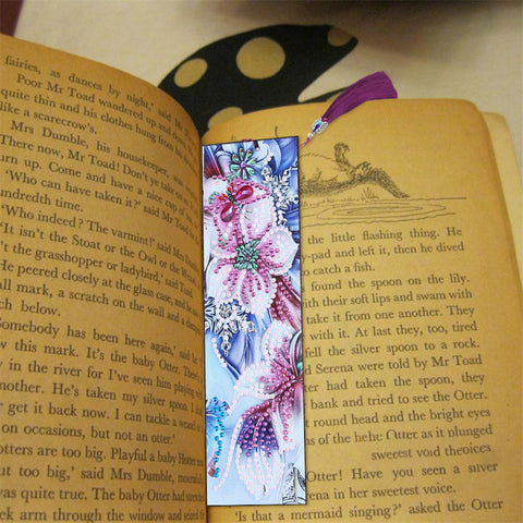 Pink Flower - Diamond Painting Bookmark