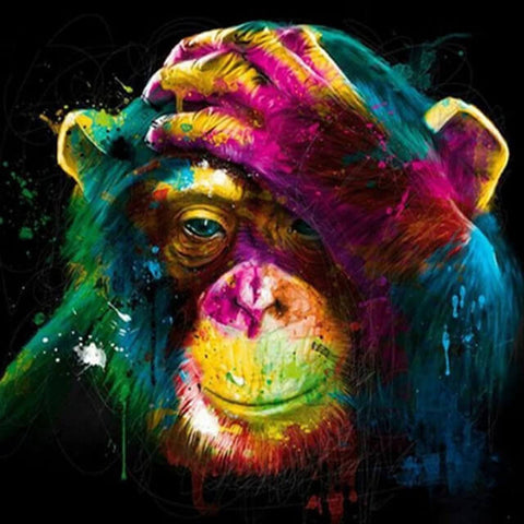 Image of monkey painting