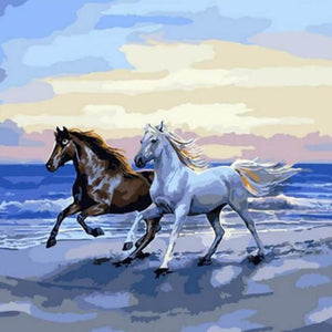 Horses Running - DYI Painting By Numbers