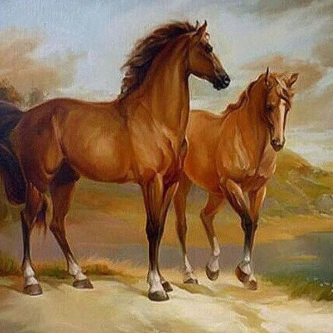 Horse in the Nature - DIY Painting By Numbers