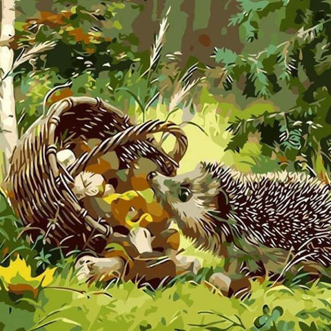 Image of Hedgehog-  DIY Painting By Numbers