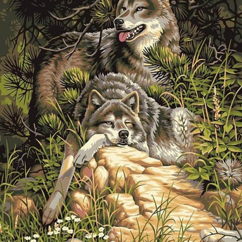 Image of Wolves - DIY Painting By Numbers