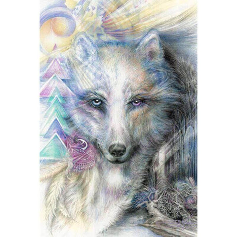 Image of Beautiful Wolf - DIY Diamond Painting