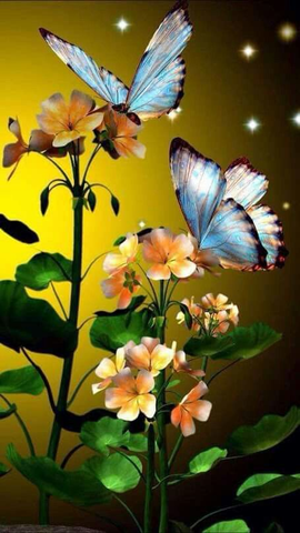 Image of butterfly painting easy