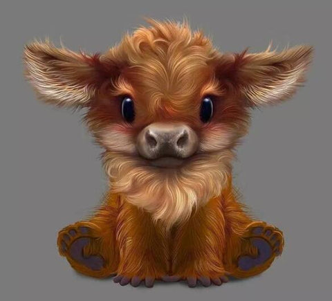 Image of Baby Bison - DIY Diamond Painting