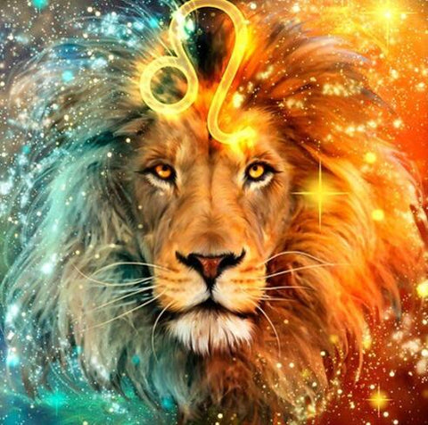 Image of Lion in a Leo Sign - DIY Diamond Painting