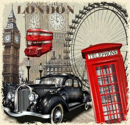 Image of London Landmarks - DIY Diamond Painting