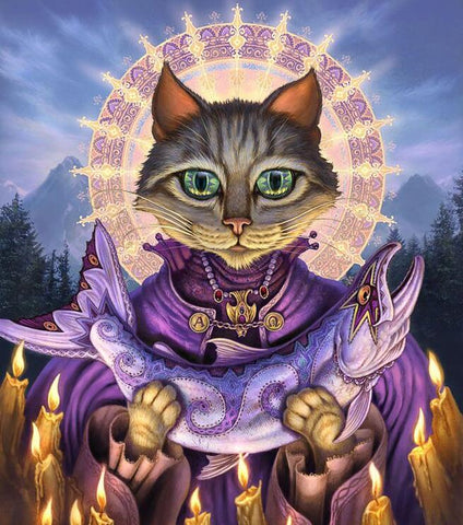 Image of High Priest Cat - DIY Diamond Painting