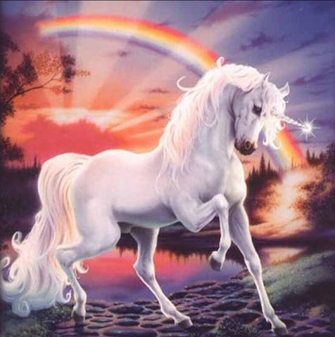 Image of Unicorn and a Rainbow - DIY Diamond Painting