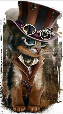 Image of Western Cat - DIY Diamond Painting