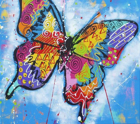 Image of Colorful Butterfly - DIY Diamond  Painting