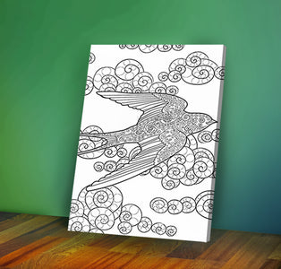 Flying bird - Coloring Canvas