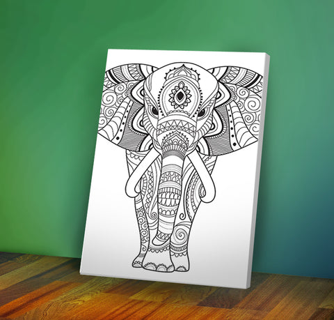 Elephant - Coloring Canvas