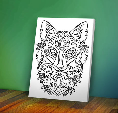 Wolf - Coloring Canvas