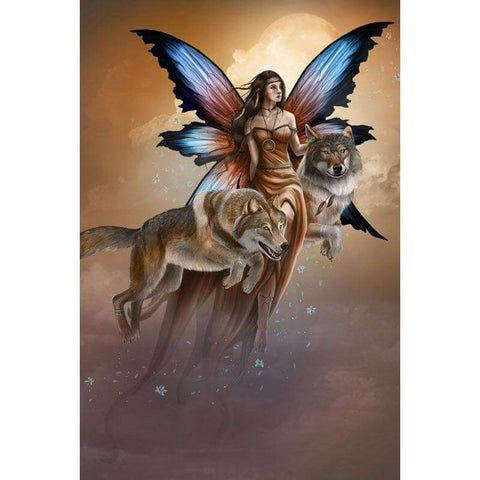 Image of Fairy and Wolf - DIY Diamond Painting
