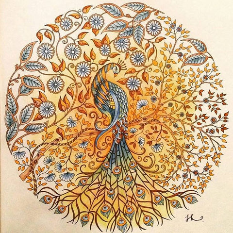 Image of Peacock Pattern - DIY Diamond Painting