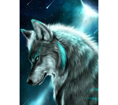 Image of Guarding Wolf - DIY Diamond Painting