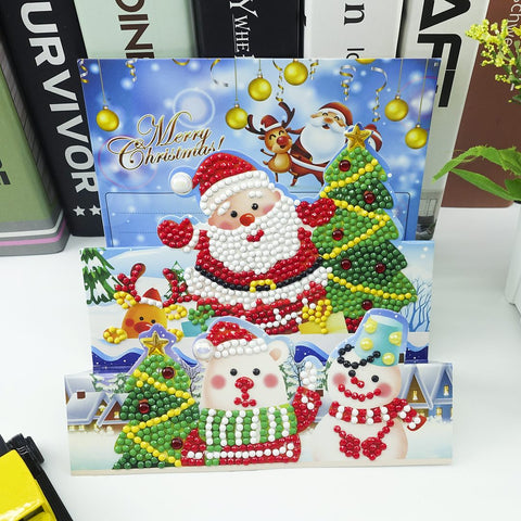 Santa's Team - Diamond Painting Folding Card