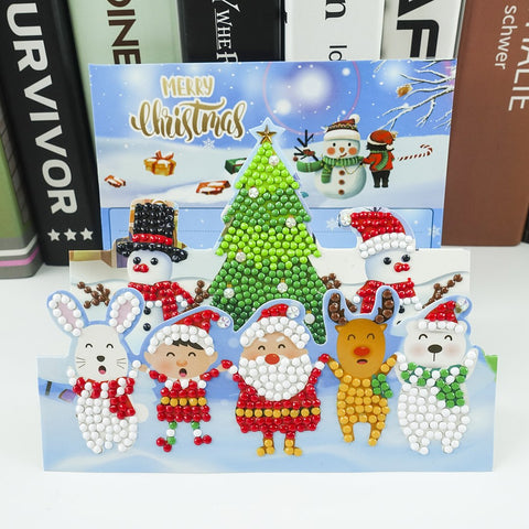Happy Santa's Team - Diamond Painting Folding Card
