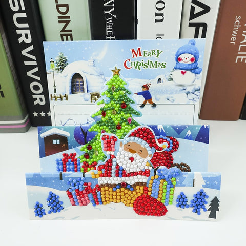 Santa's Playing - Diamond Painting Folding Card