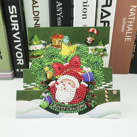 Santa Giving Gifts - Diamond Painting Folding Card
