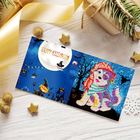 Image of Halloween Set (4pcs) - DIY Diamond Painting Greeting Cards