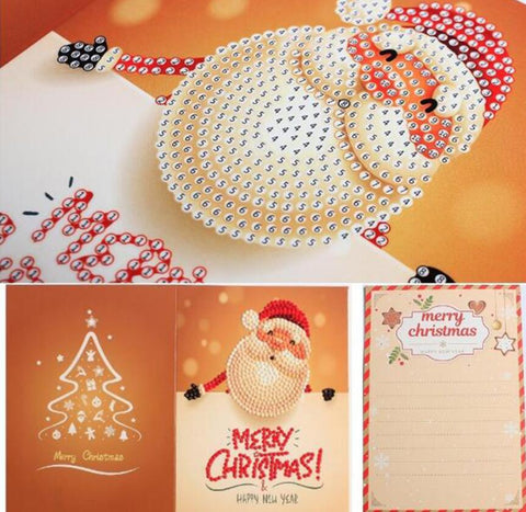 Christmas Set #6 (4pcs) - DIY Diamond Painting Christmas Cards