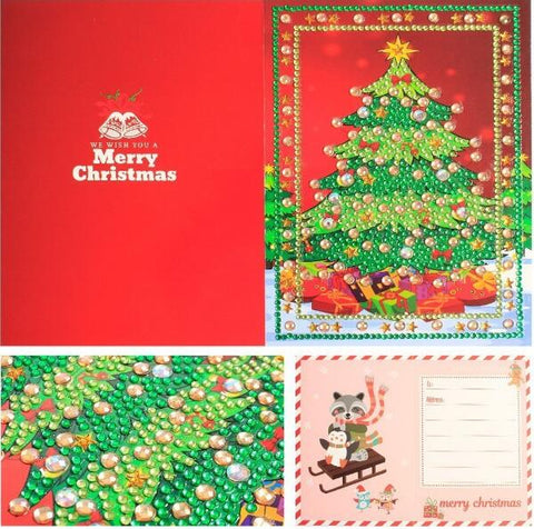 Image of Christmas Set #6 (4pcs) - DIY Diamond Painting Christmas Cards