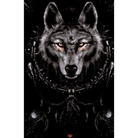 Tough Black Wolf - DIY Diamond Painting