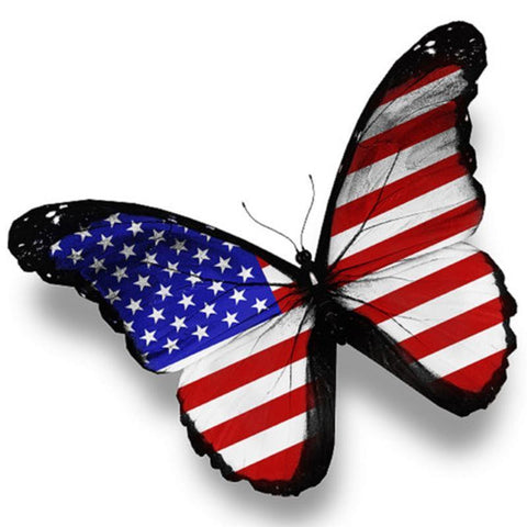 Image of US flag butterfly - DIY Diamond Painting